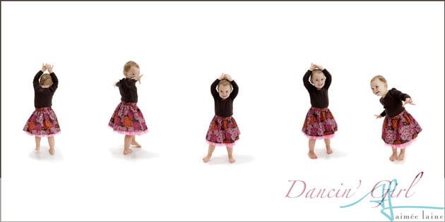 Dancin' Girl at the Aimee Laine studio