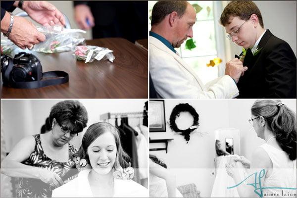 Janet & Dakota : Wedding Preparation Photography by Aimee