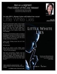 Fundraiser Donation Flyer for Little White Lies