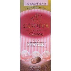 Godiva Ice Cream Parlor Milk Strawberry Truffles