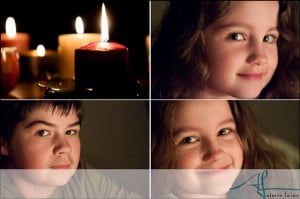 Candle light photography by Aimee