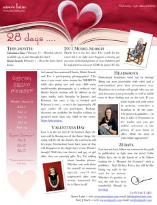 AimeeLaine February 1, 2011 Newsletter