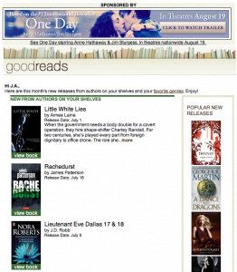 Goodreads Newsletter July 2011 (a portion)