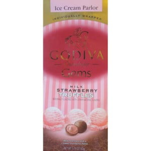 Godiva Ice Cream Parlor Milk Strawberry Truffles