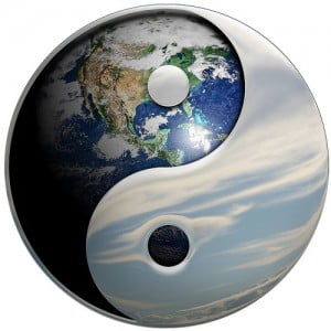 Yin Yang Sky Earth - Illustration by DonkeyHotey